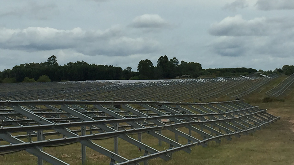 PVH fixed structure for solar plant at Uruguay