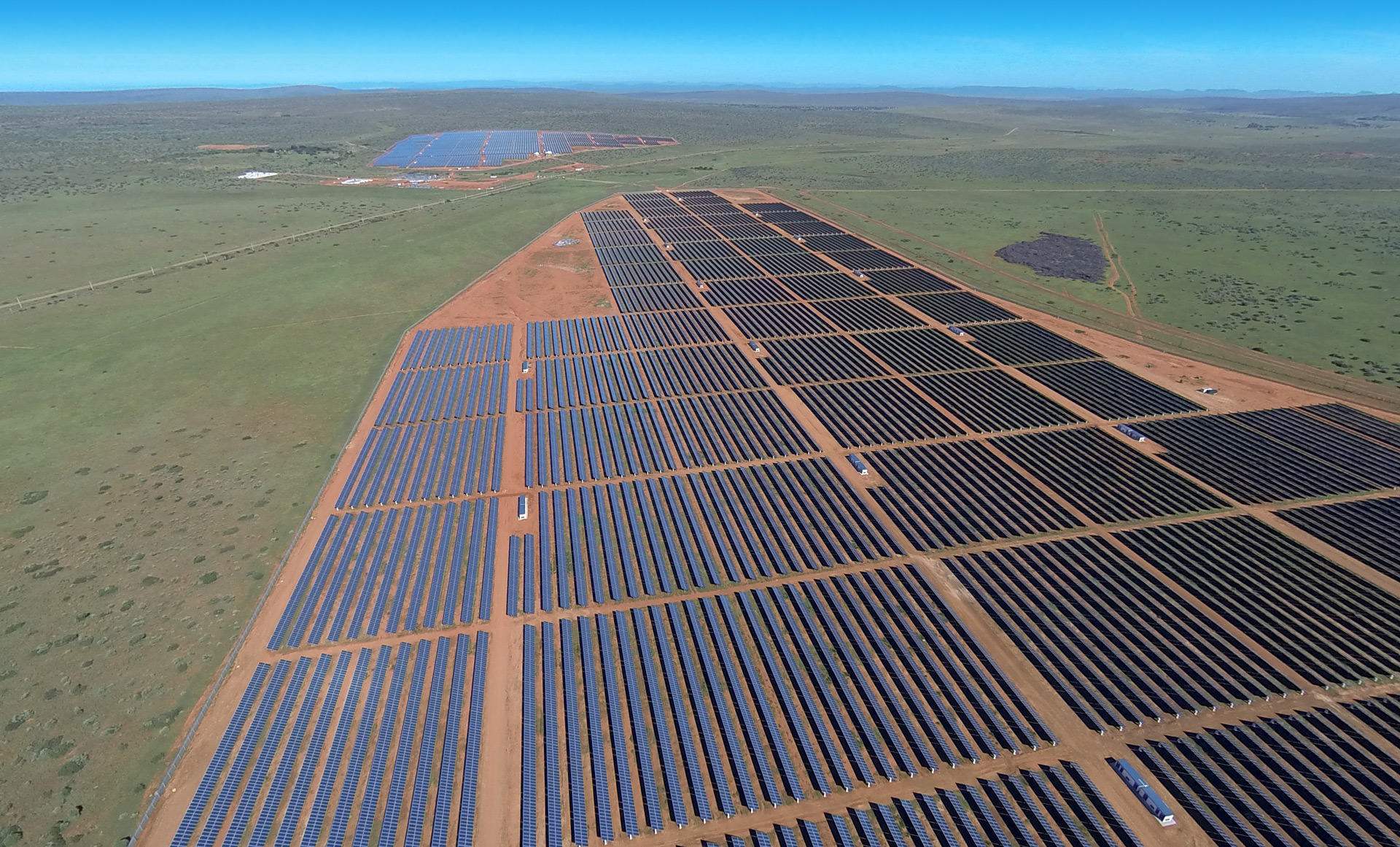 Solarfix fixed tilt structure by PVH at Lesedi Solar Plant in South Africa
